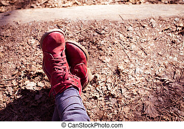 red shoes relaxing