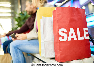 Red Shopping Bag with SALE sign