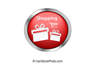 Red shopping button
