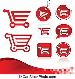 Red Shopping Cart Design Kit