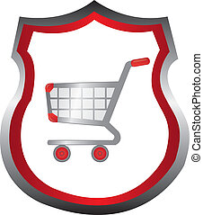 shopping cart emblem