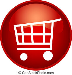red shopping - illustration of a red shopping button