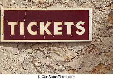 red signboard of sale tickets
