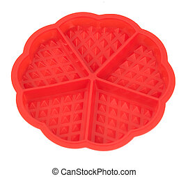 Red silicone form Viennese wafers