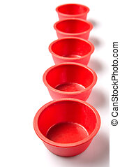 Red Silicone Muffin Baking Cup