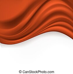 red silk abstract background on white. vector illustration