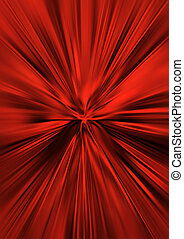 Red, silk background with rays