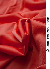 Red silk cloth with fold litter