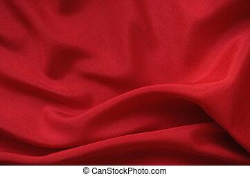 Red silk drape - Drape background of red silk