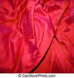 Red Silk Fabric texture. Vector