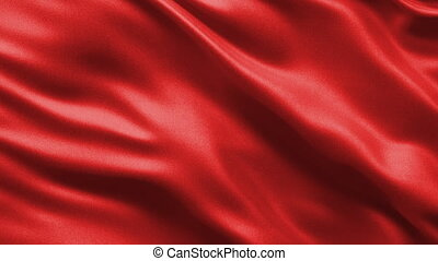 Loop ready seamless background showing a red silky material waving gently in the wind