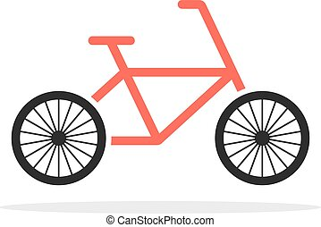 red simple bicycle emblem