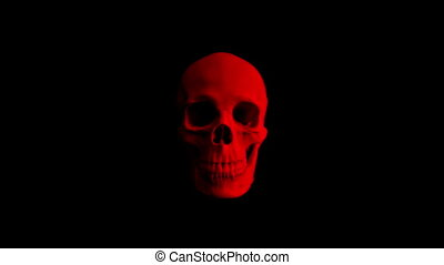 Red Skull Opens Mouth Eats Camera POV - 4 Versions - Human...