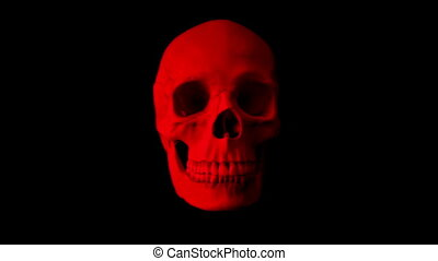 Red Skull Talking Loop - Front View - Front view of human...
