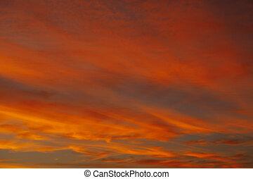 red sky sunrise background
