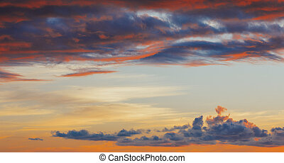 red sky sunset background