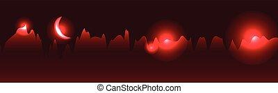 red skyline vector