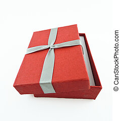 Red small box isolated