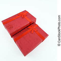 Red small boxes