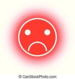 Red smileys emoticons icon negative
