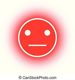Red smileys emoticons icon