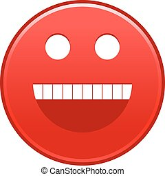 Red smiling face cheerful smiley happy emoticon