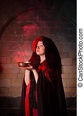 Red smoke and vampire