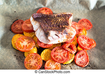 Red Snapper Filet - Fresh Red Snapper filet off the oven ...