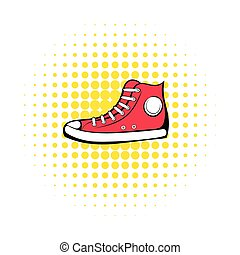 Red sneaker comics icon