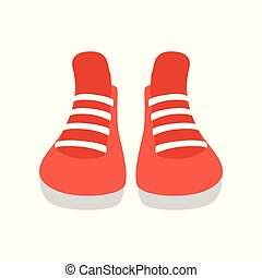Red sneakers vector Illustration on a white background