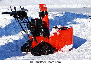 Red snow machine