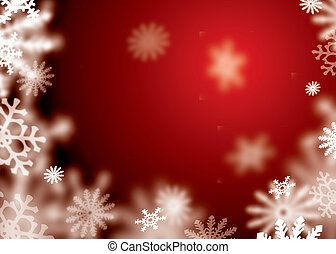 red snowflake blur