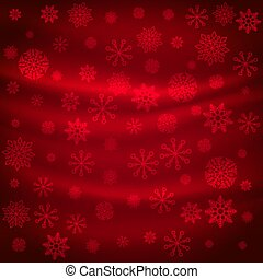 red snowflakes pattern background design
