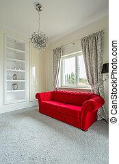 Red sofa lounge