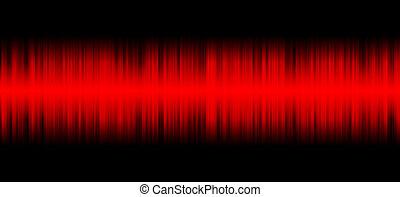 Red sound on black background