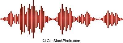 red sound waves