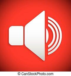 Red speaker icon      Red speaker icon - Red speaker icon