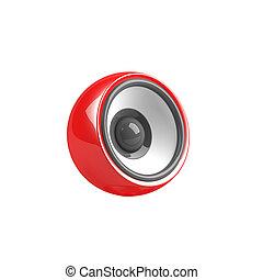 red speaker isolated