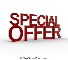 Red special offer - A red special offer isolated on a white ...