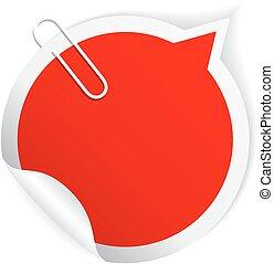 Red speech bubble paper