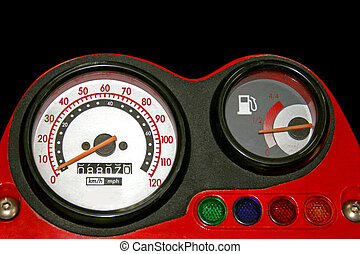 Red speedometer