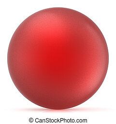 Red sphere round button ball basic matted circle balloon