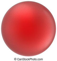 Red sphere round button ball basic matted scarlet circle figure