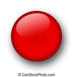 red sphere - web button