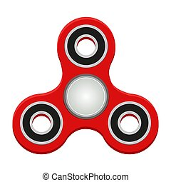 Red spinner. Anti-stress toy. Helps to relax and calm down....