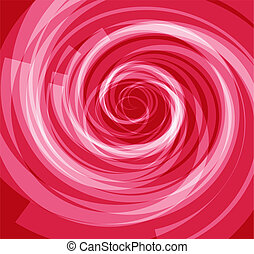 Red spiral Abstract background
