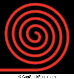 Red spiral.