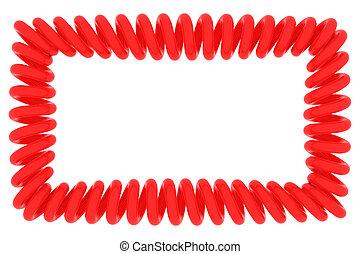 Red spiral frame