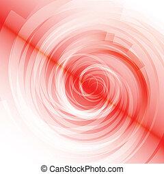 Red Spiral on white Background