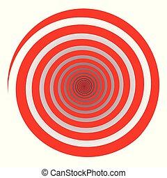 Red Spiral White Background